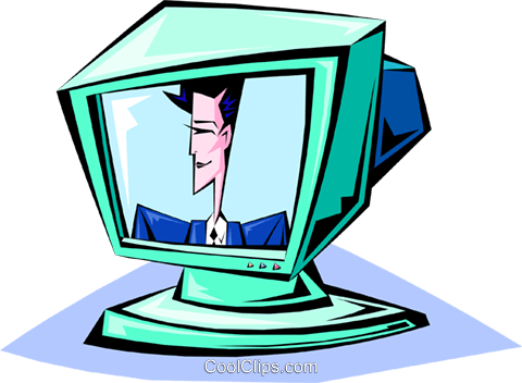 television Royalty Free Vector Clip Art illustration busi1339