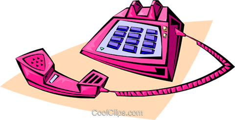 telephone Royalty Free Vector Clip Art illustration busi1341