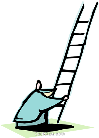 climbing/reaching Royalty Free Vector Clip Art illustration cart1950