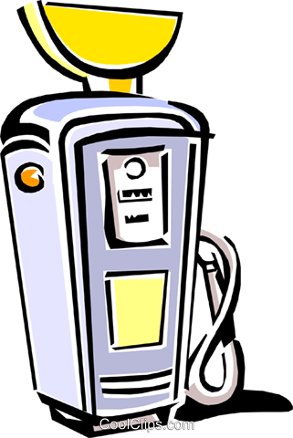 gasoline pump Royalty Free Vector Clip Art illustration envi0231