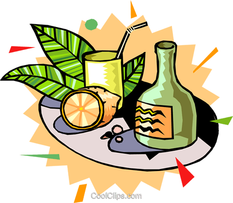 exotic drinks Royalty Free Vector Clip Art illustration food0799