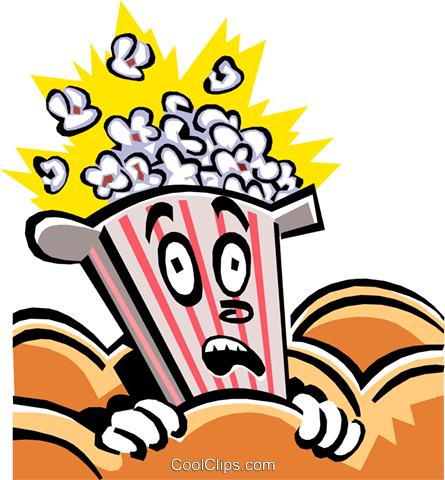 popcorn character Royalty Free Vector Clip Art illustration food0806