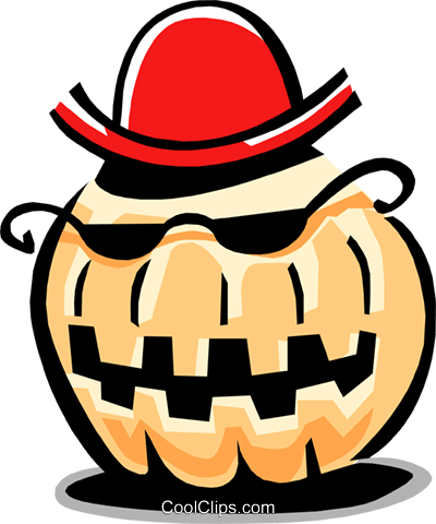 pumpkin character Royalty Free Vector Clip Art illustration food0808