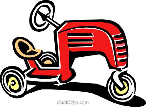 child's riding toy Royalty Free Vector Clip Art illustration hous1148