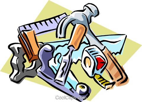 carpentry tools Royalty Free Vector Clip Art illustration indu0781