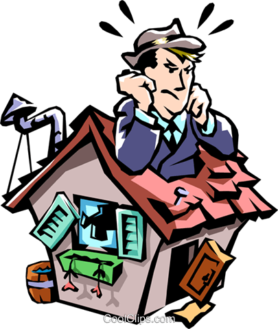 house expenses Royalty Free Vector Clip Art illustration peop2242