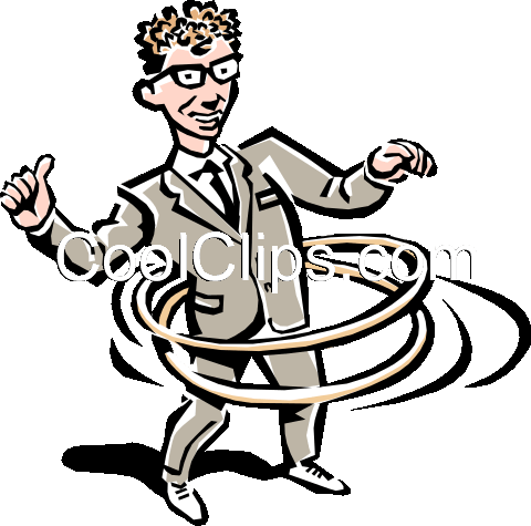 hula hoop Royalty Free Vector Clip Art illustration peop2253