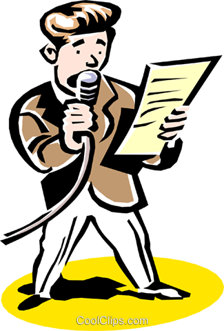 announcer Royalty Free Vector Clip Art illustration peop2254