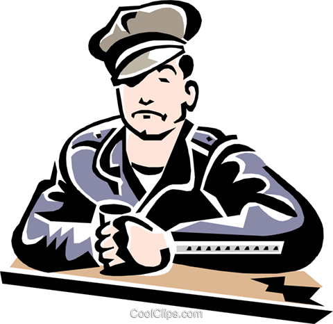 man sitting at counter Royalty Free Vector Clip Art illustration peop2275
