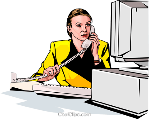 Woman on phone Royalty Free Vector Clip Art illustration peop2291