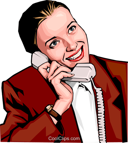 woman on phone Royalty Free Vector Clip Art illustration peop2293