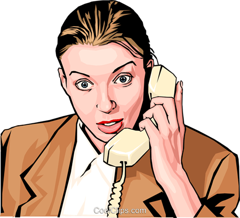 woman on phone Royalty Free Vector Clip Art illustration peop2295