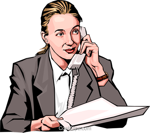 woman on phone Royalty Free Vector Clip Art illustration peop2296