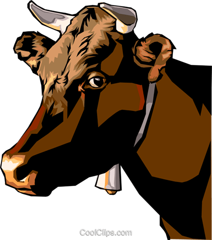 cow Royalty Free Vector Clip Art illustration anim1533