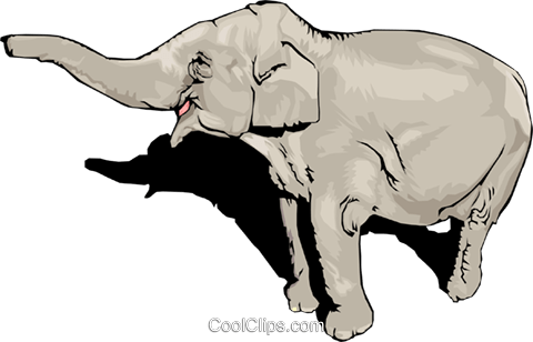 elephant Royalty Free Vector Clip Art illustration anim1534
