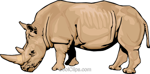 rhinoceros Royalty Free Vector Clip Art illustration anim1537