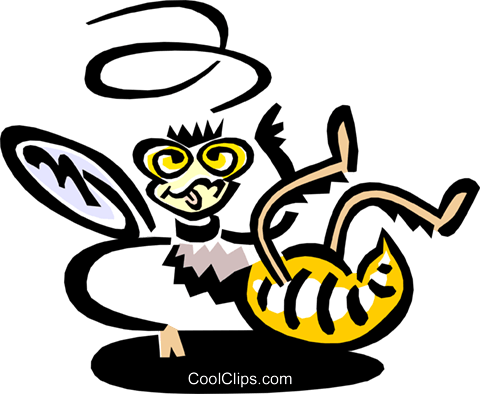 bee Royalty Free Vector Clip Art illustration anim1545