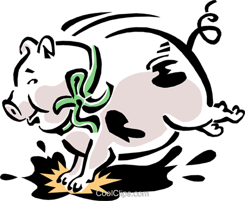 pig Royalty Free Vector Clip Art illustration anim1549