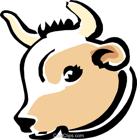 cow Royalty Free Vector Clip Art illustration anim1551