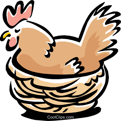 bird hen Royalty Free Vector Clip Art illustration anim1554