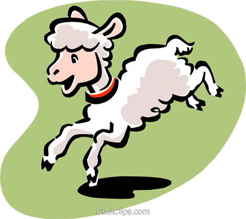 lamb Royalty Free Vector Clip Art illustration anim1555