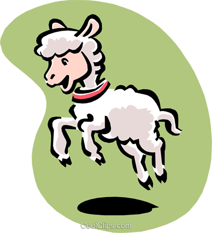 lamb Royalty Free Vector Clip Art illustration anim1556