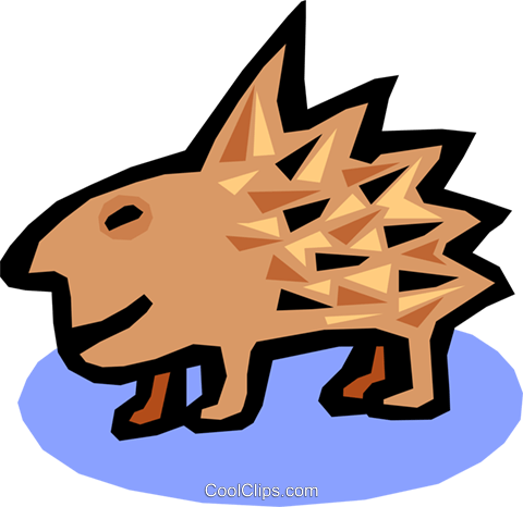 porcupine Royalty Free Vector Clip Art illustration anim1562