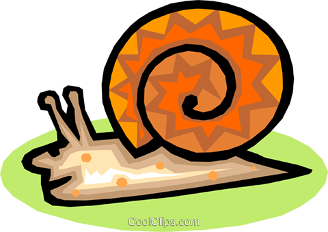 snail Royalty Free Vector Clip Art illustration anim1563