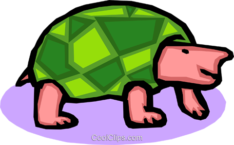 turtle Royalty Free Vector Clip Art illustration anim1566
