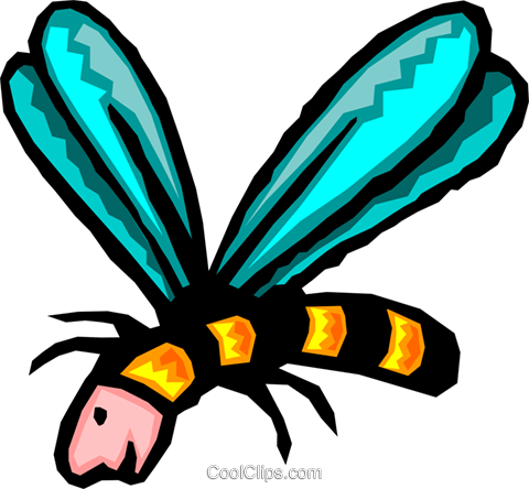 insect Royalty Free Vector Clip Art illustration anim1573