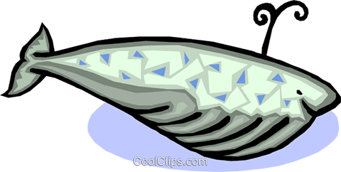 whale Royalty Free Vector Clip Art illustration anim1575