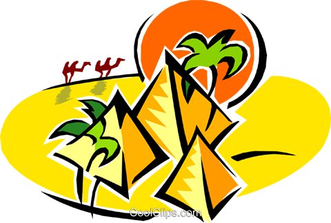 pyramids Royalty Free Vector Clip Art illustration arch0419