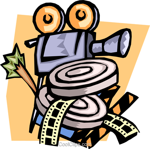 camera and film canisters Royalty Free Vector Clip Art illustration arts0473