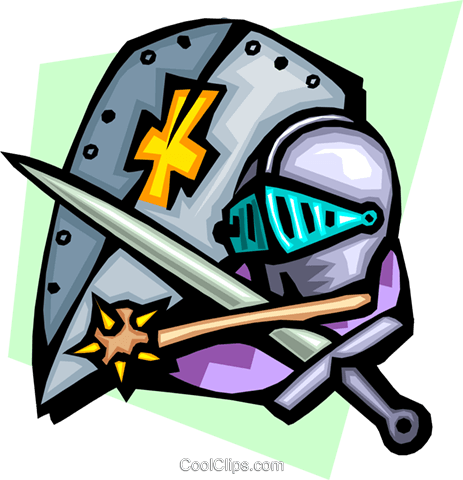 Knight's armor Royalty Free Vector Clip Art illustration arts0478