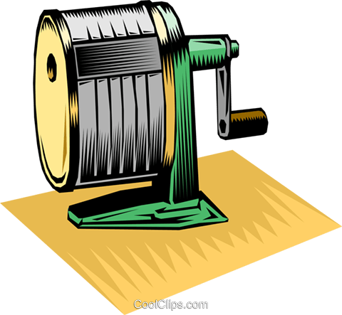 Pencil sharpener Royalty Free Vector Clip Art illustration busi1362