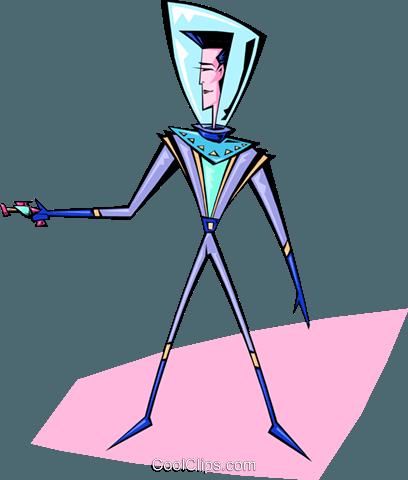 太空人 免版税矢量剪贴画插图图片