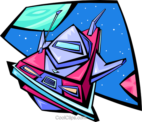 spacecraft Royalty Free Vector Clip Art illustration cart2023