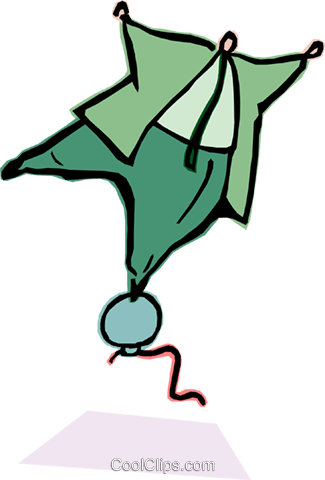 man balancing on rising balloon Royalty Free Vector Clip Art illustration cart2044