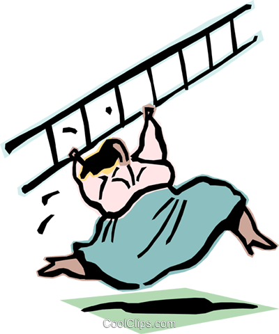 climbing the ladder of success Royalty Free Vector Clip Art illustration cart2094