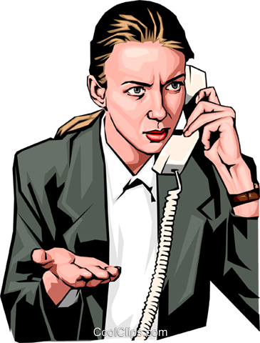 Woman on phone Royalty Free Vector Clip Art illustration peop2297