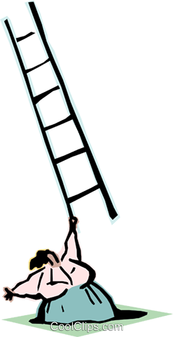 climbing the ladder of success Royalty Free Vector Clip Art illustration cart2096