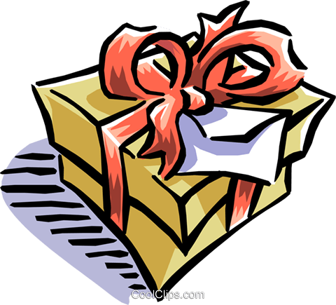 Christmas gift Royalty Free Vector Clip Art illustration even0682