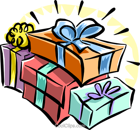 Christmas gifts Royalty Free Vector Clip Art illustration even0686