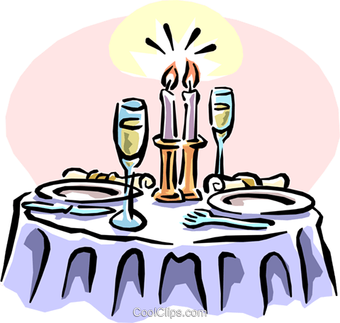 dinner with candlelight and champagne royalty free vector clip art rh search coolclips com diner clipart images diner clipart free
