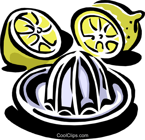 Lemon juicer Royalty Free Vector Clip Art illustration food0826