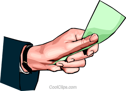 hand holding money Royalty Free Vector Clip Art illustration hand0279