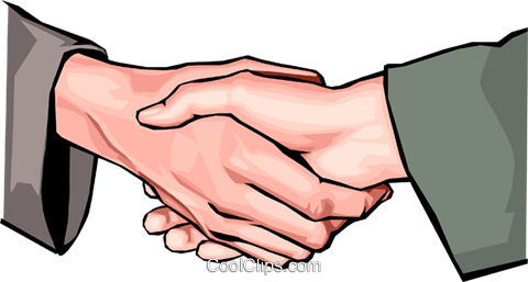 shaking hands Royalty Free Vector Clip Art illustration hand0292