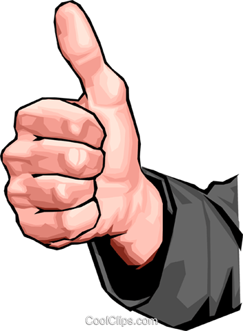 thumbs up Royalty Free Vector Clip Art illustration hand0294