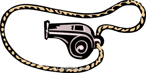 whistle Royalty Free Vector Clip Art illustration hous1155