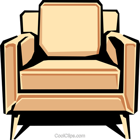 chair Royalty Free Vector Clip Art illustration hous1157
